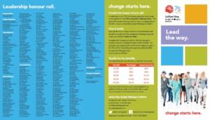leadership brochure united way 2015 guelph