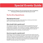guide for special events