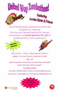 united way zumbathon poster
