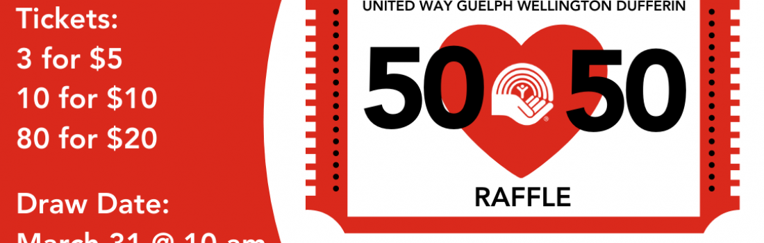 United Way 50/50 – Win Big & Support Our Community!